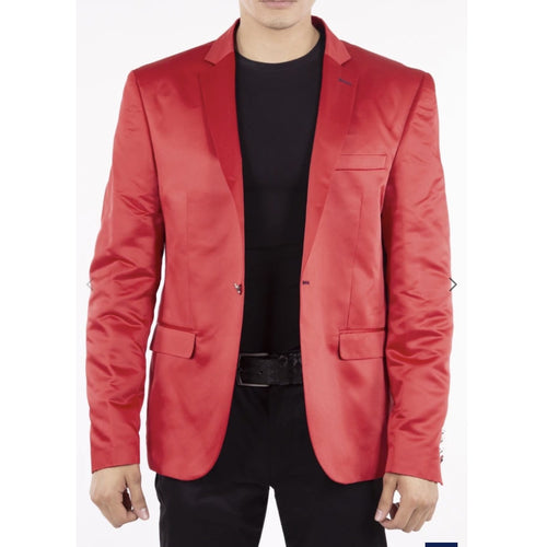 Men's Red Pattern Evening Blazer