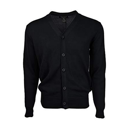 Men's Solid Button Cardigan-DF