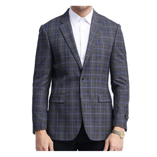 Men's 100% Wool Blazer -Slim Fit