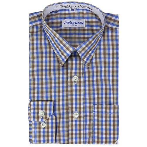 Boy's Plaid Shirt - Berlioni-DF