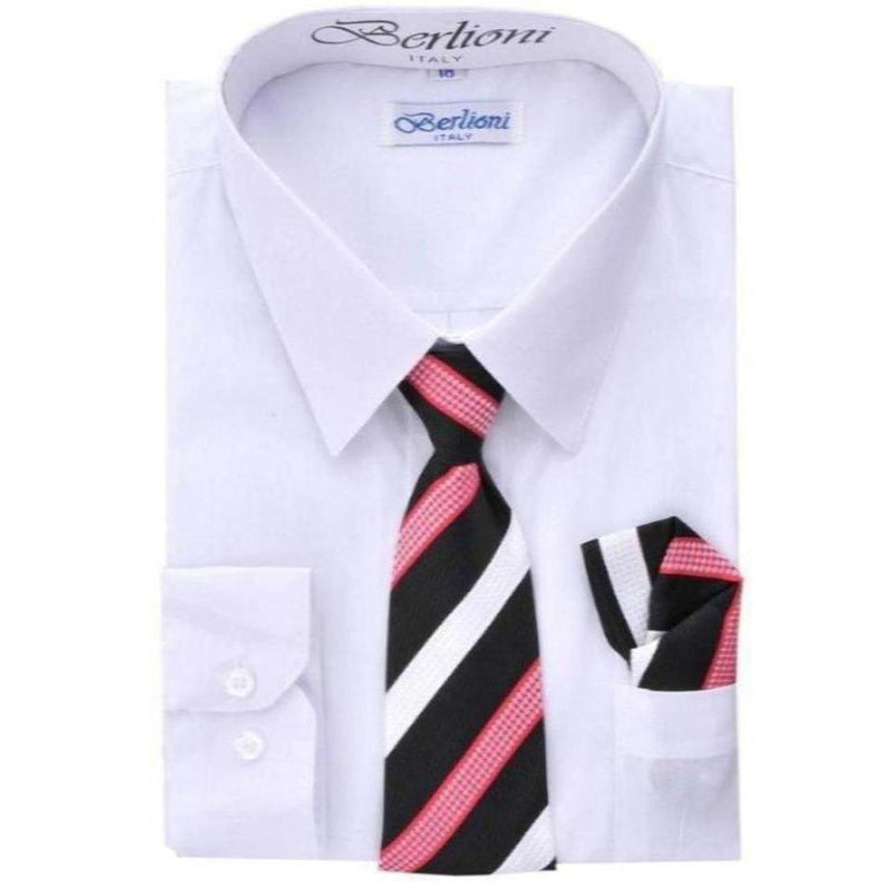 Boy's Dress Shirt/Tie - Berlioni-DF