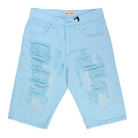 Men's Color Twill Rip & Repair Shorts