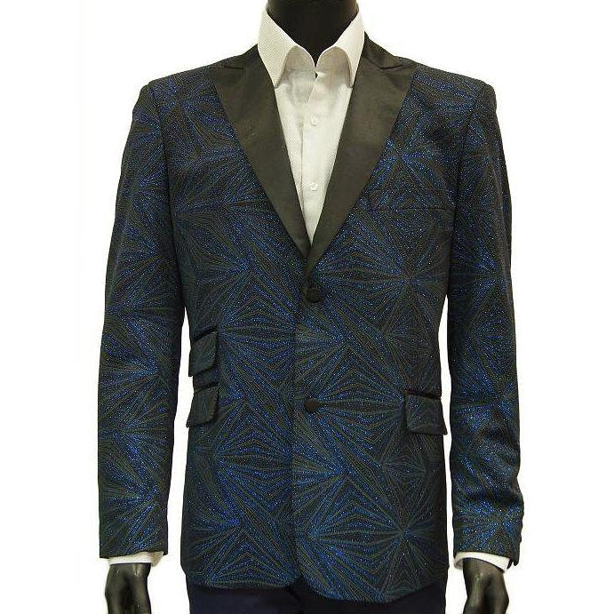 Men's Blue Martini Formal Blazer - DF