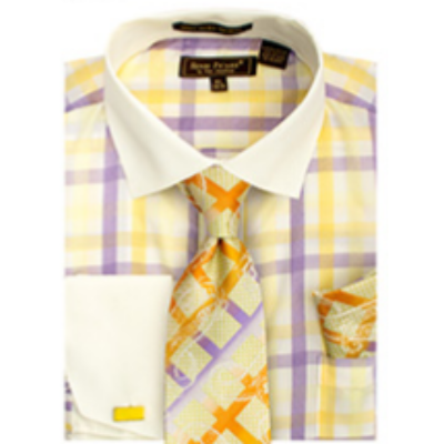 Men's Henri Picard Wide Stripe Dress Shirt