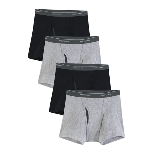 Fruit of the Loom 4pk Boxer Briefs- B&T-DF