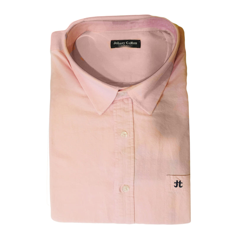 Men's Johnny Cotton Oxford Solid Shirt-B&T