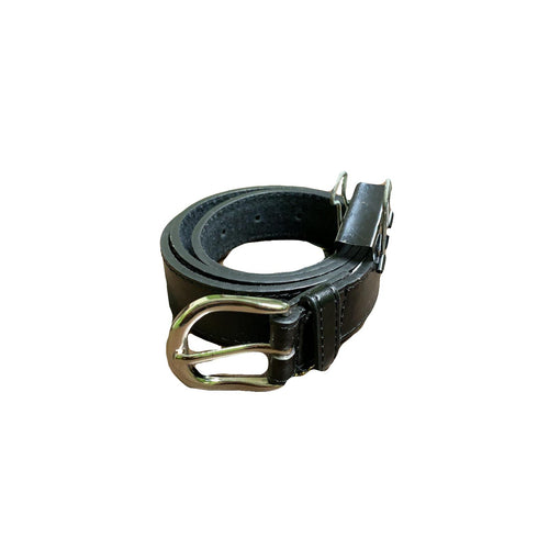 Men's Leather Black Belt - MB5000