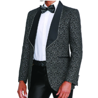 Men's Empire Blazer w/Satin Shawl Lapel