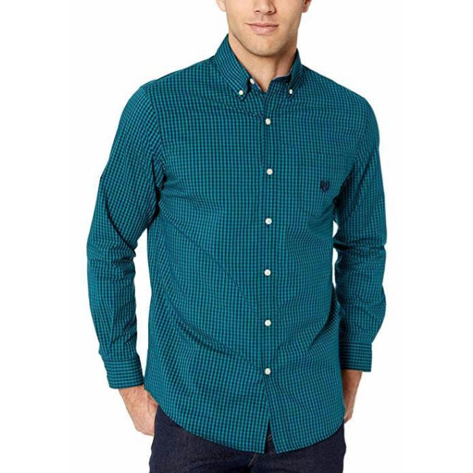 Chaps L/S Easy Care Stretch 2-Tone Gingham
