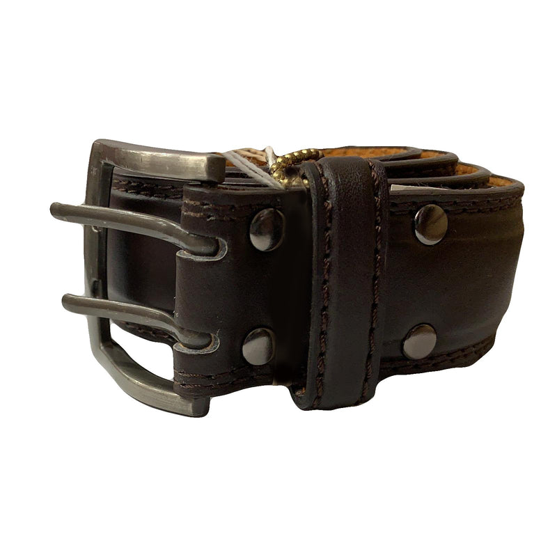 Men's Brown Leather Casual Belt- MB5500