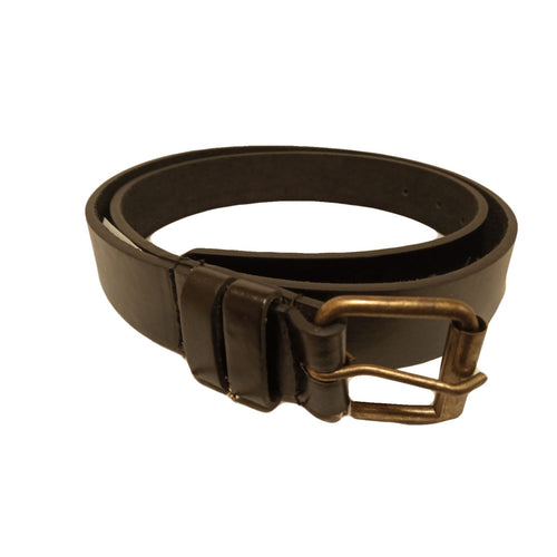 Men's Black Leather Casual Belt- MB5500