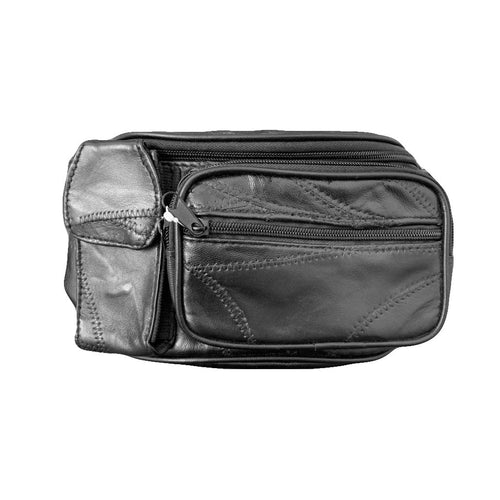 Men's Leather Waist Pouch-Medium