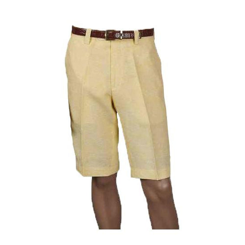 Men's Linen Shorts Flat Front - DF