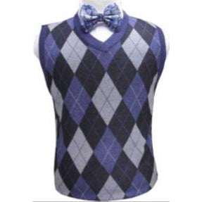 Men's Plaid Sweater Vest-DF