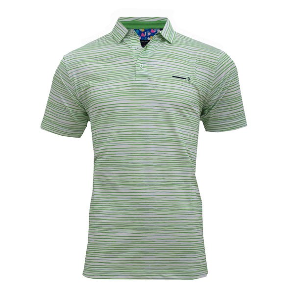 GREEN WAVE MEN'S GOLF T-SHIRT