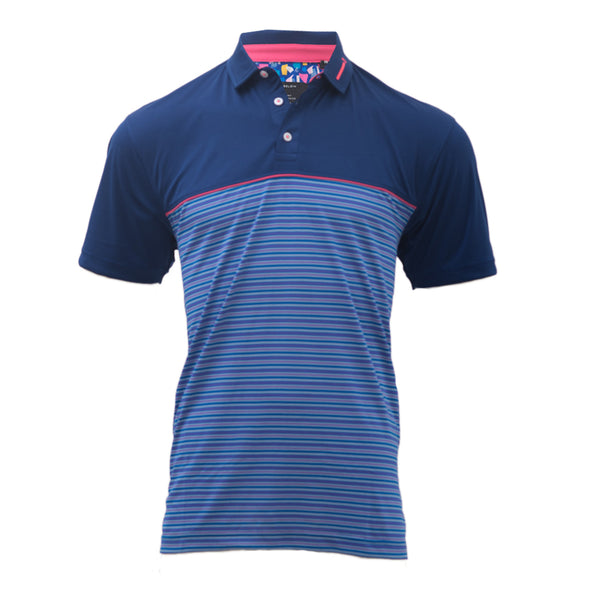 MEZZO NAVY  MEN'S GOLF T-SHIRT