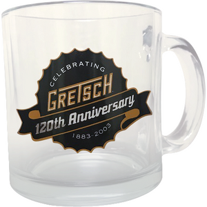 Gretsch 120th Anniversary Glass Coffee Mug,  - Gretsch Gear