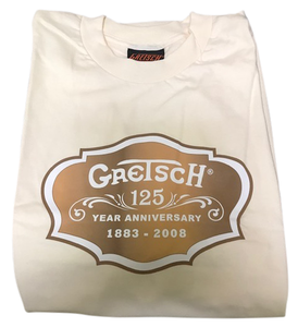 Gretsch 125th Anniversary T-Shirt (Cream) - GretschGear