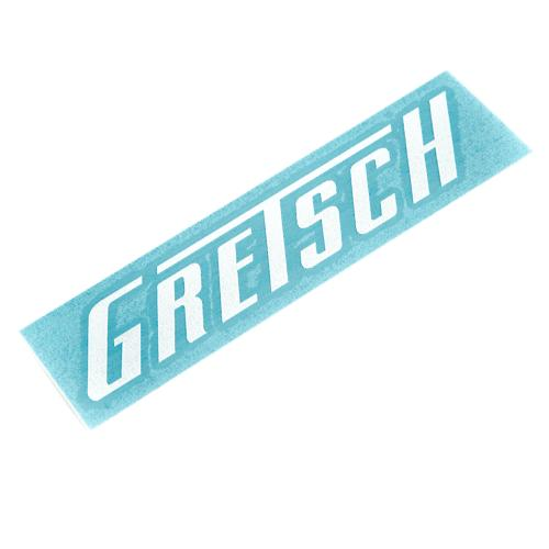 Gretsch Die Cut Window Sticker, White,  - Gretsch Gear