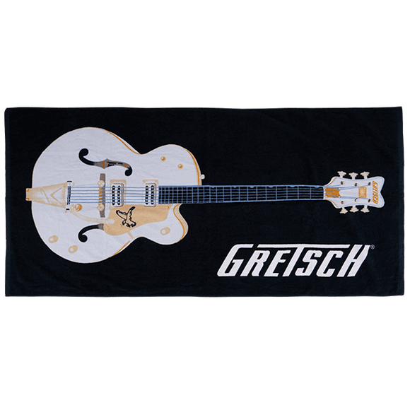Gretsch® Beach Towel, Black,  - Gretsch Gear