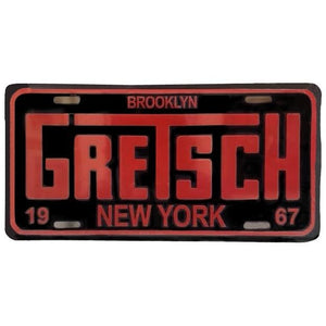 License Plate, Gretsch Brooklyn 1967 - Gretschgear