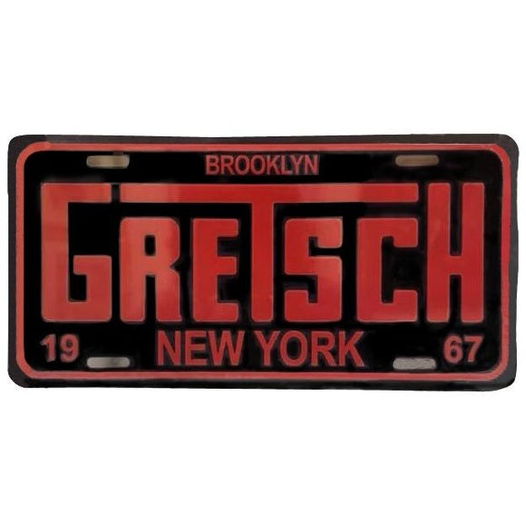 License Plate, Gretsch Brooklyn 1967 NEW - Gretschgear
