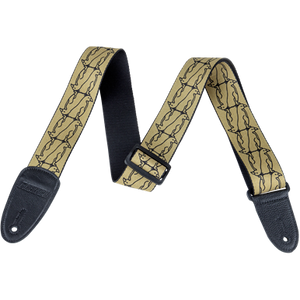 Gretsch Double Penguin Poly Strap_Gold and Black,  - Gretsch Gear
