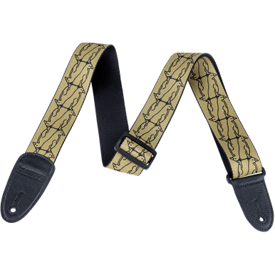 NEW!! Gretsch Double Penguin Poly Strap_Gold and Black,  - Gretsch Gear