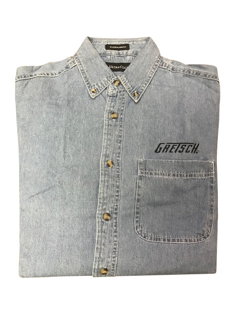 Gretsch Men's Denim Long Sheeve Button-Down Shirt,  - Gretsch Gear