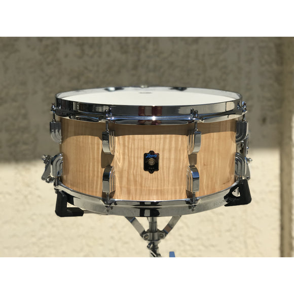 LEEDY 6-1/2 x 14 COLLECTOR'S EDITION Curly Maple Snare Drum - GretschGear