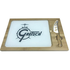 Gretsch Drum Bamboo Cutting Board and Cheese Knife,  - Gretsch Gear