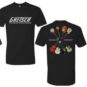 Gretsch Sound of Superiority Shirt, Black,  - Gretsch Gear