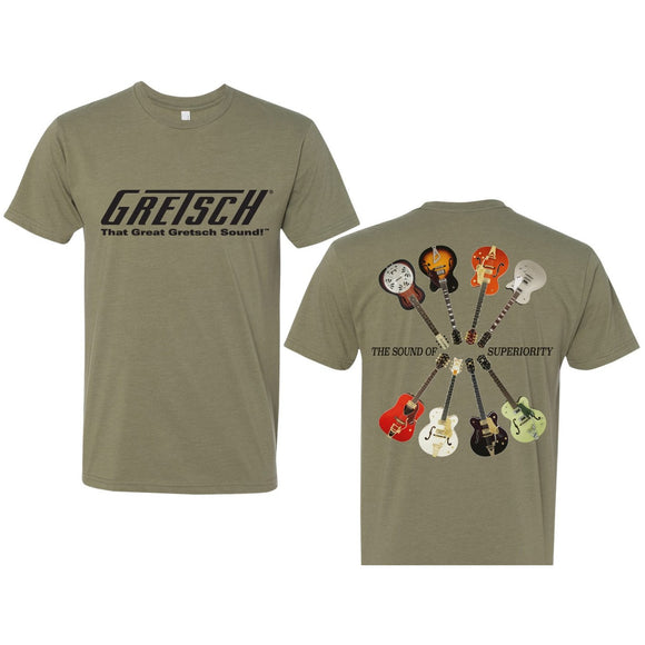NEW Gretsch Sound of Superiority Shirt, Light Olive,  - Gretsch Gear