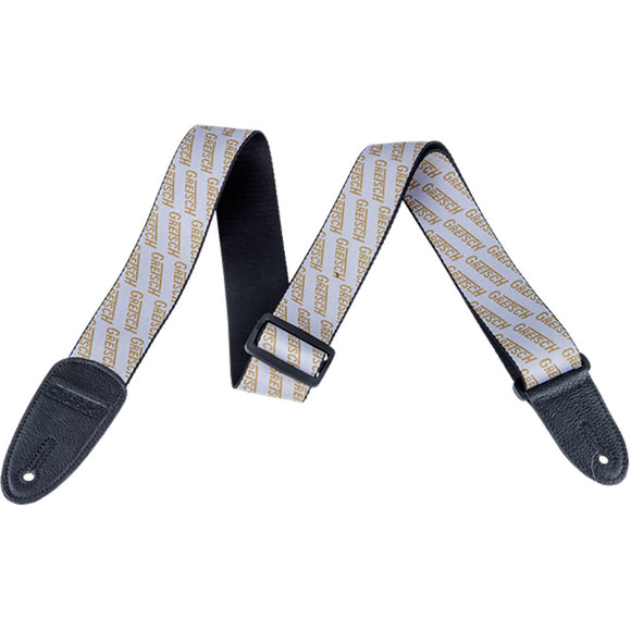 Strap, Gretsch Logo Poly_White and Gold,  - Gretsch Gear