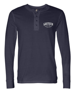 Gretsch Henley Shirt, Navy Blue,  - Gretsch Gear