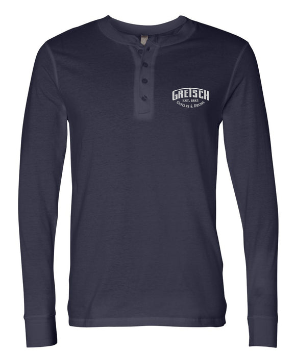 Gretsch Henley Shirt, Navy Blue (PRE-ORDER NOW),  - Gretsch Gear