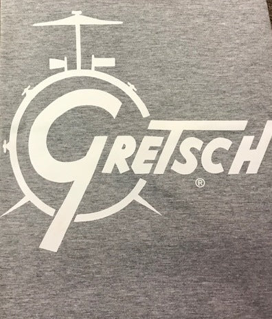 Gretsch Drum Tee, Heather Grey (Small Only),  - Gretsch Gear