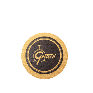 "Gretsch Drum 4"" Round Cork Coasters, Set of 6,  - Gretsch Gear"