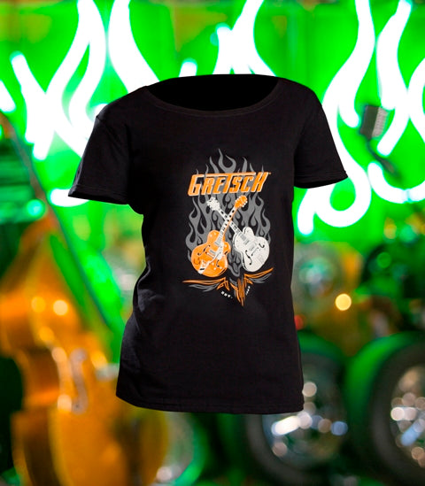 Gretsch Ladies Dual Guitar T-Shirt,  - Gretsch Gear