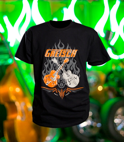 Gretsch Dual Guitar 100% Cotton T-Shirt,  - Gretsch Gear