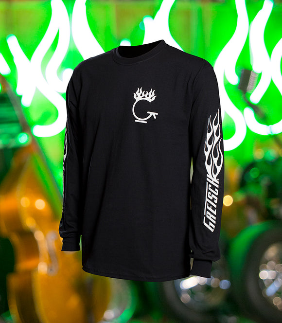 Gretsch Flame Long Sleeve T-Shirt,  - Gretsch Gear