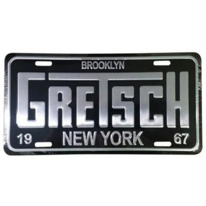 License Plate, Gretsch Brooklyn 1967  (Black & Aluminum) - GretschGear