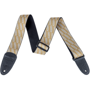 Gretsch Logo Poly Strap_Gold and White,  - Gretsch Gear