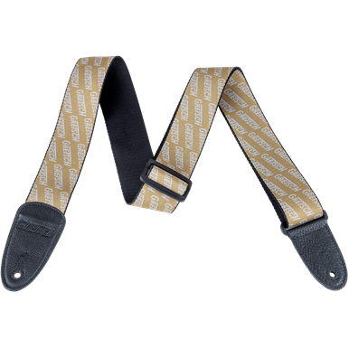 Strap Gretsch Logo Poly_Gold and White,  - Gretsch Gear