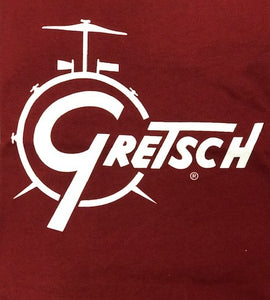 Gretsch Drum Tee, Garnet (Small Only),  - Gretsch Gear