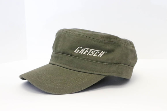 Gretsch Logo Military Cap, Olive, hat - Gretsch Gear