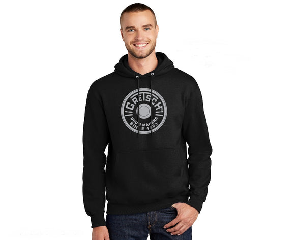 New! Gretsch Round Badge Hooded Sweatshirt,  - Gretsch Gear