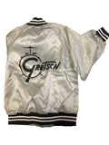 Vintage Gretsch Drum Satin Jacket, Silver (Small Only), jacket - Gretsch Gear