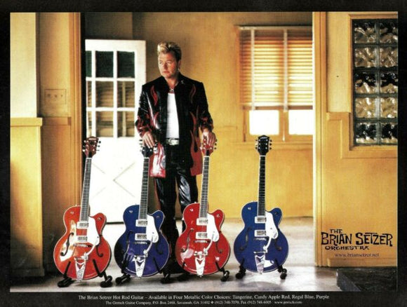 Brian Setzer and Gretsch Hot Rod Collection Postcard, (Set of 2),  - Gretsch Gear