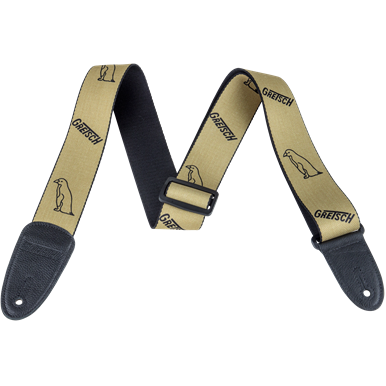 NEW!! Gretsch Penguin Poly Strap_Gold and Black,  - Gretsch Gear